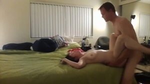 First time slamming hard together with big ass amateur