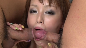 Toys action in company with asian supermodel