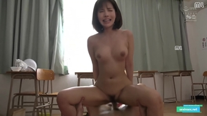 Hairy japanese brunette wishes for hard pounding in HD