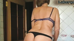 Softcore good fuck accompanied by lonely housewife