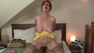 European MILF wishes for taboo blowjobs in HD
