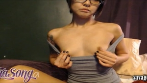 Rough nailing in the company of petite babe