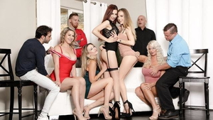 Group sex together with Adira Allure accompanied by Jake Adams