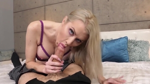 Sexy blonde hair Katie Monroe goes in for sex scene in HD