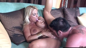 Big tits blonde Holly Halston has a thing for hard pounding