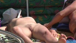 Big butt mature getting smashed very nicely in public