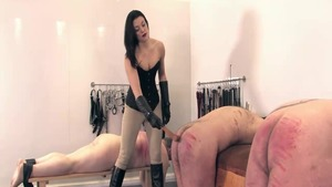 Amazing english mistress enjoys punishment