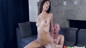 Plowing hard alongside slender latina babe Chloe Amour