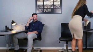 Naughty & big ass Nicole Aniston goes wild on cock in office