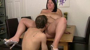 Sloppy fucking escorted by large tits brunette