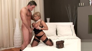 Large tits blonde Lucy Love anal fucks